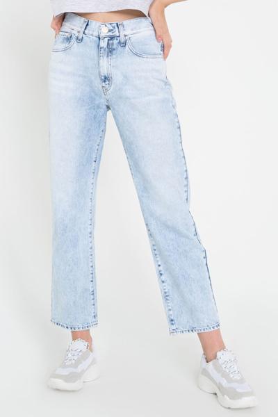 Прямые джинсы до щиколотки