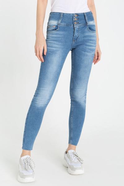 Облегающие джинсы с широким поясом